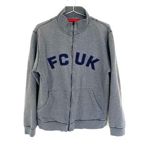 🔥FRENCH CONNECTION FCUK Jeans SWEATSHIRT Zip XL